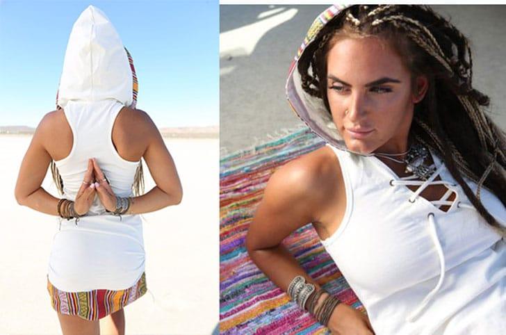 Tribal Hoodie Dress