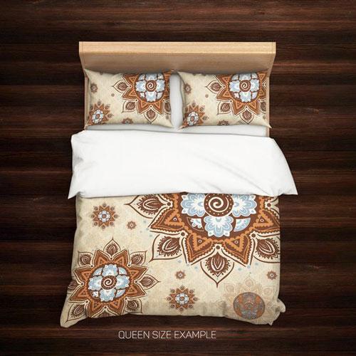Vintage Retro Bohemian Mandala Bed Set