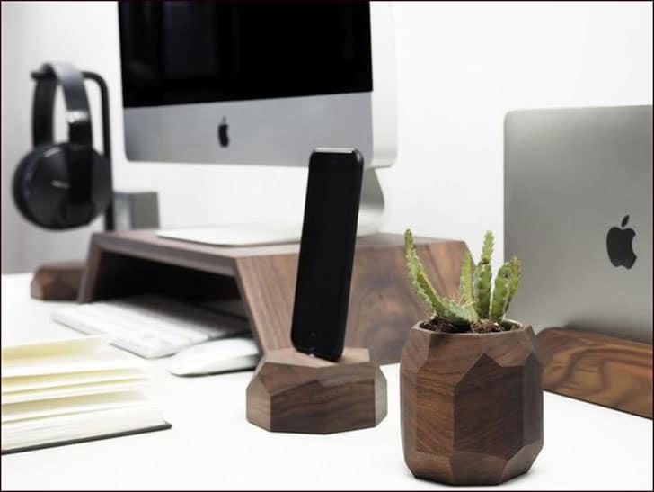 Walnut Desk Organization Collection
