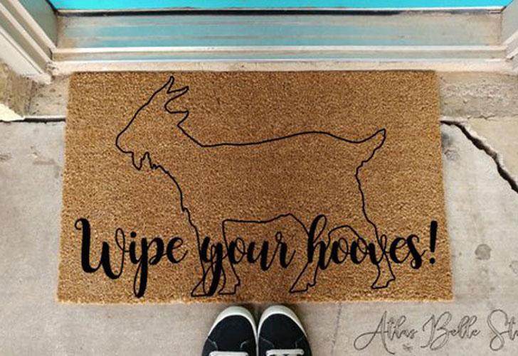 Wipe Your Hooves Doormat