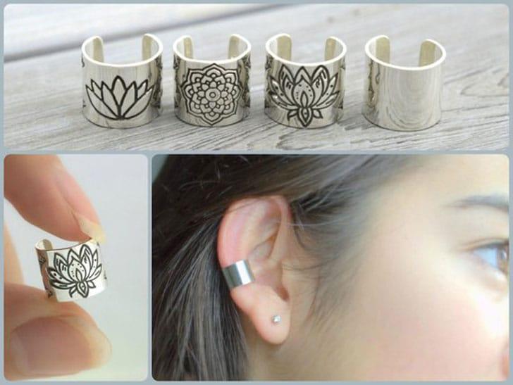 Zen Lotus Ear Cuffs