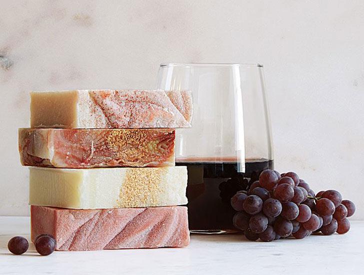All-Natural Vegan Wine Soaps