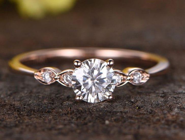 Charles & Colvard Moissanite Engagement Ring