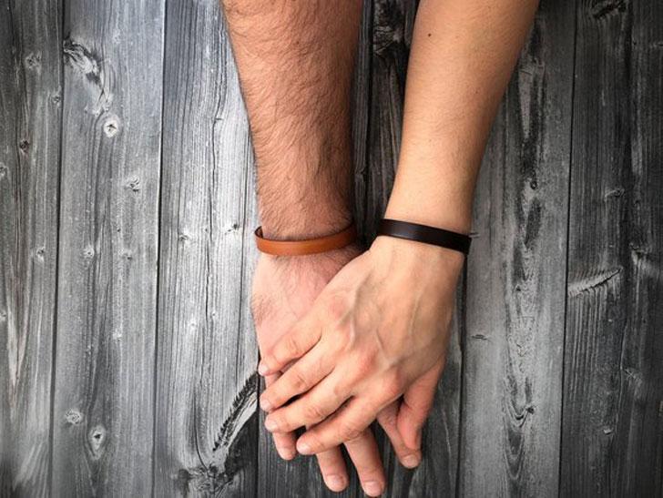 Hidden Message Personalized Couples Bracelet