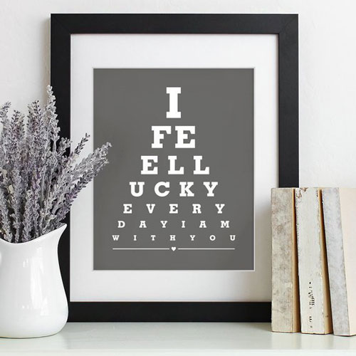 """""""I Feel Lucky Everyday When I'm With You"""" Home Decor Gift"""