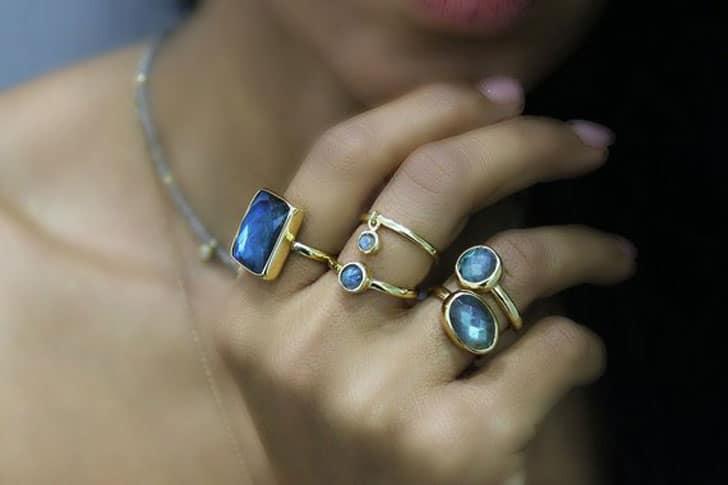 Labradorite Engagement Rings