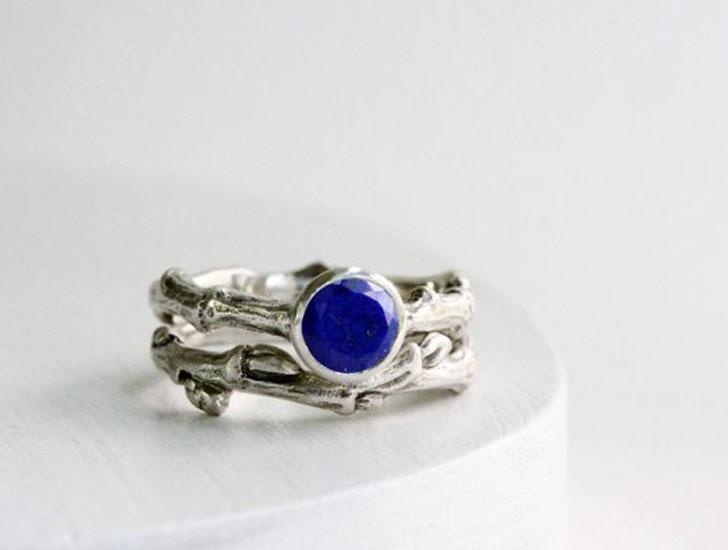 Lapis Lazuli Engagement Ring