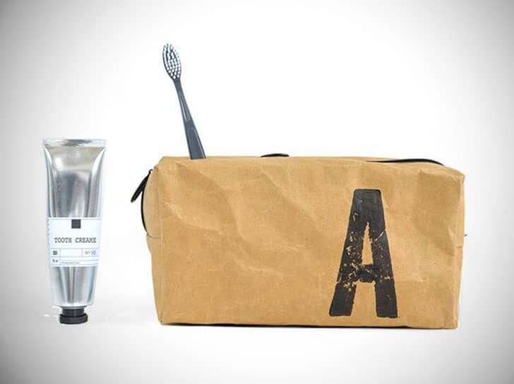 Men's Monogrammed Wash Bag - Vegan Gift For Him