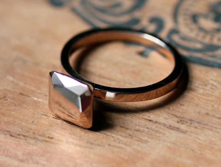 Modern Rose Gold Engagement Ring