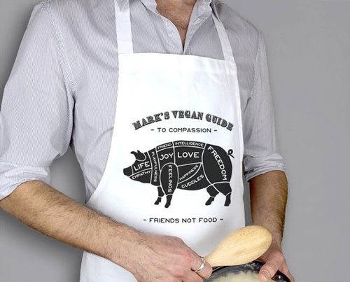 Personalised Vegan Message Apron