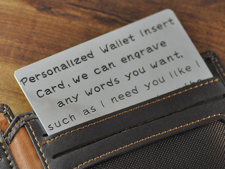 Personalized Wallet Insert Card