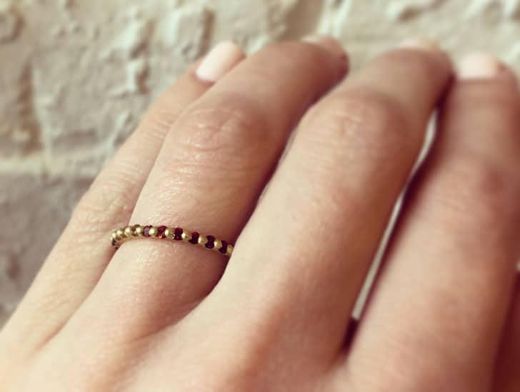 Rainbow Narrow Eternity Ring