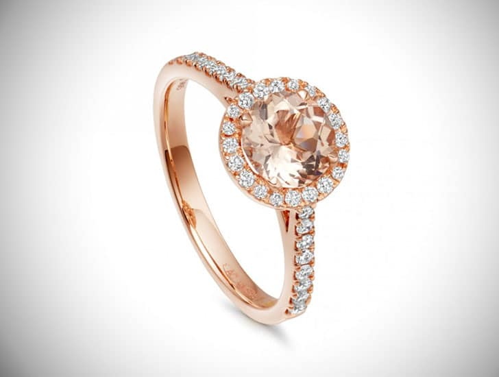 Rosegold Morganite Tearoom Ring
