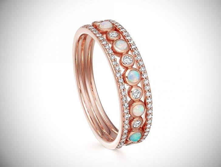 Triple Icon Nova Opal Ring