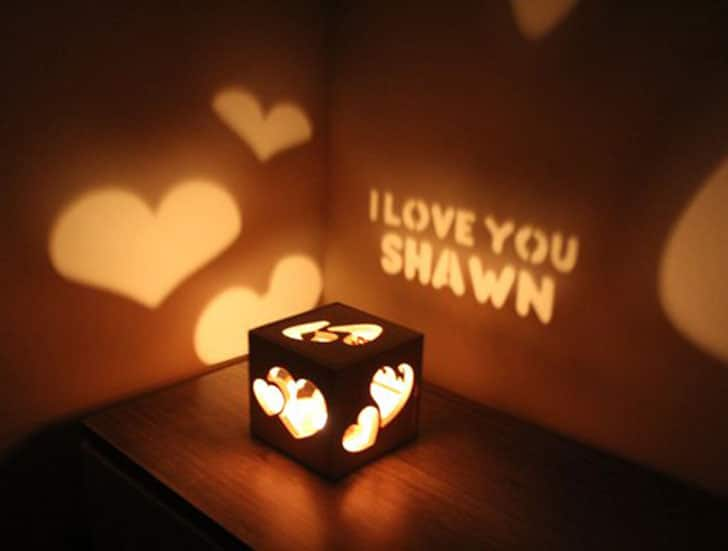 Valentine's Gift for Boyfriend - Personalized Glow Box Nightlight