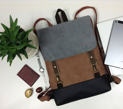 Vegan Leather Laptop Backpack