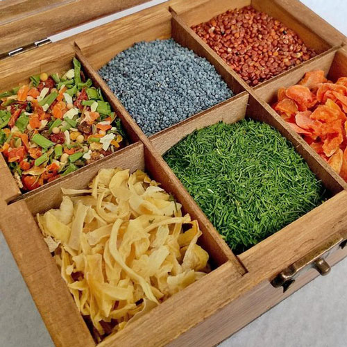 Vintage GiftBox for Tea or Spices - Vegan Gift