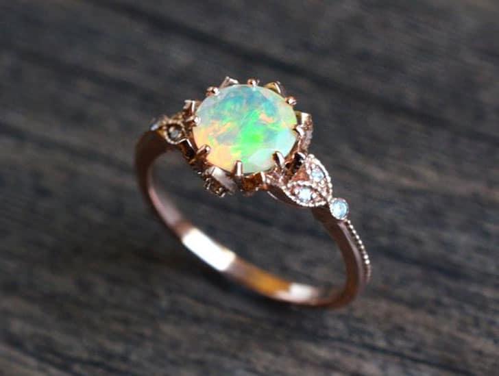 Vintage Opal Engagement Ring