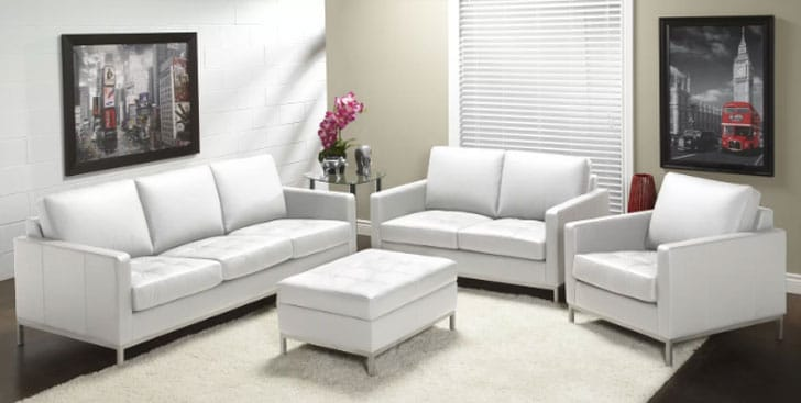 244 Series Leather Configurable Living Room Set