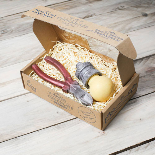 Chocolate Light Bulb And Wire Cutters Gift Box