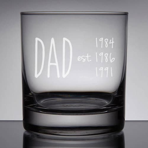 Dad Est. Rocks Glass