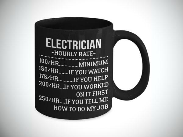 Electrician Hourly Rate Coffee Mug