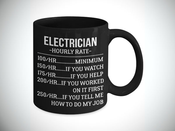 Electrician Hourly Rate Coffee Mug