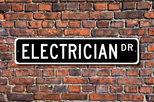 Electrician Street Sign