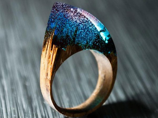 Exotic Wooden & Resin Statement Ring
