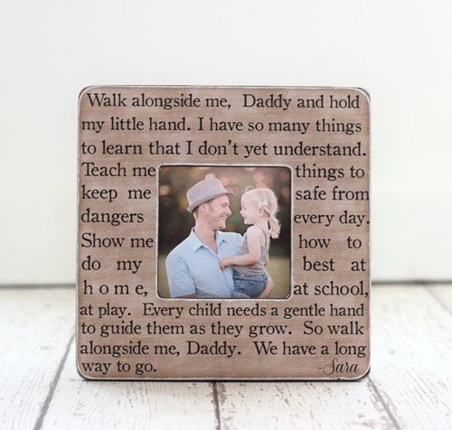 First Time Dad Personalized Picture Frame