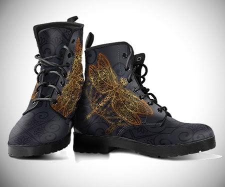 Golden Bohemian Dragonfly Boots