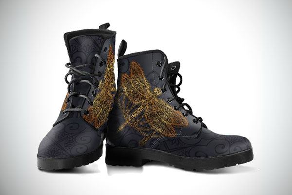 Golden Bohemian Dragonfly Boots