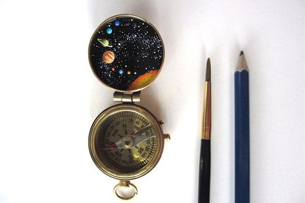 Handpainted Compass