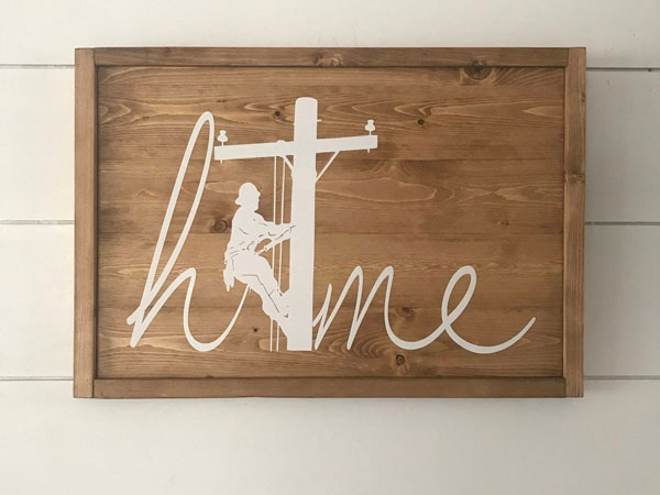 Home Electrician - Lineman Sign
