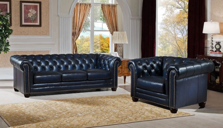 Kraig 2 Piece Leather Living Room Set