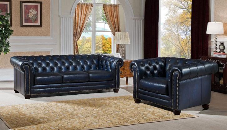 Kraig 2 Piece Leather Living Room Set