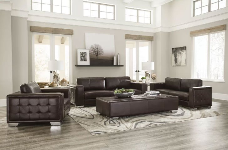 Kuhn Leather Configurable Living Room Set