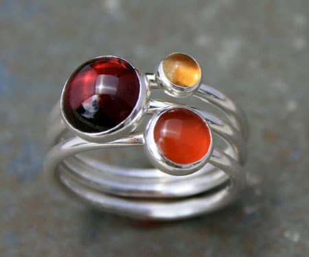 Maui Sunset Stacking Rings