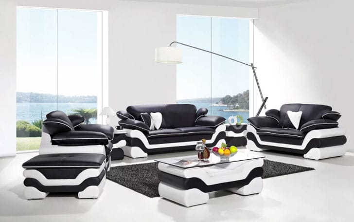 Orren Ellis 7 Piece Leather Living Room Set