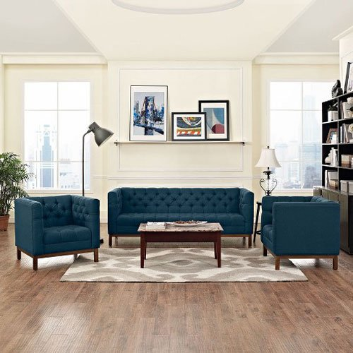 Panache Living Room Set Upholstered Fabric