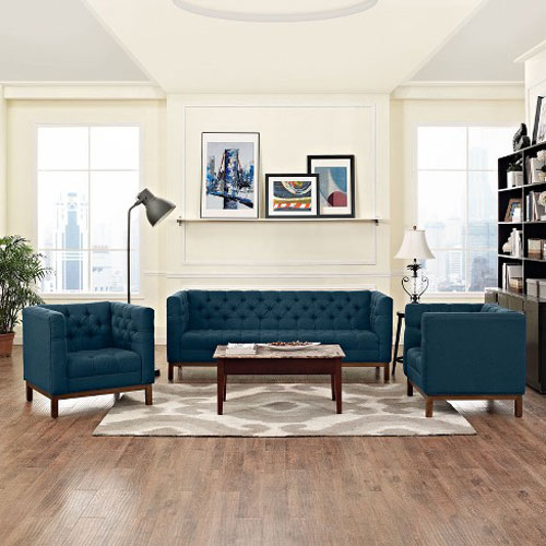 Panache Living Room Set Upholstered Fabric