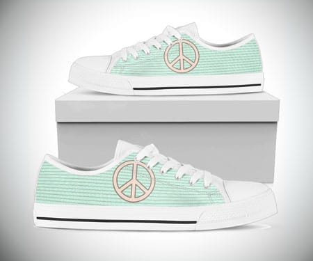 Peace Pastel Low Top Shoes