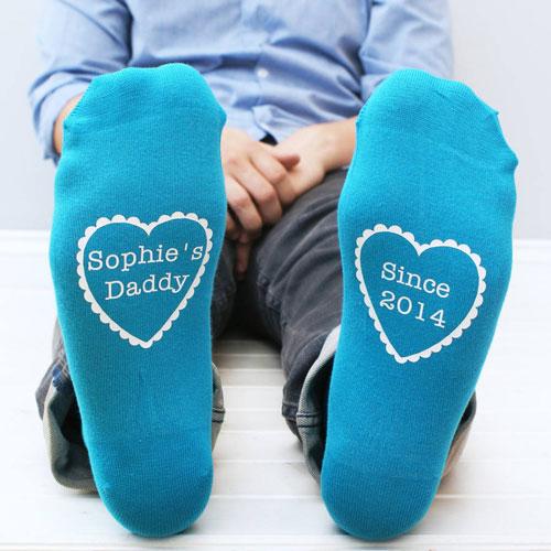 Personalised Daddy Since Men's Socks