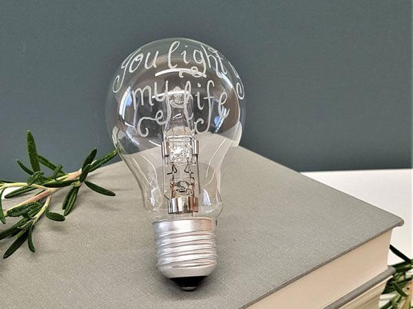 Personalised Light Bulb