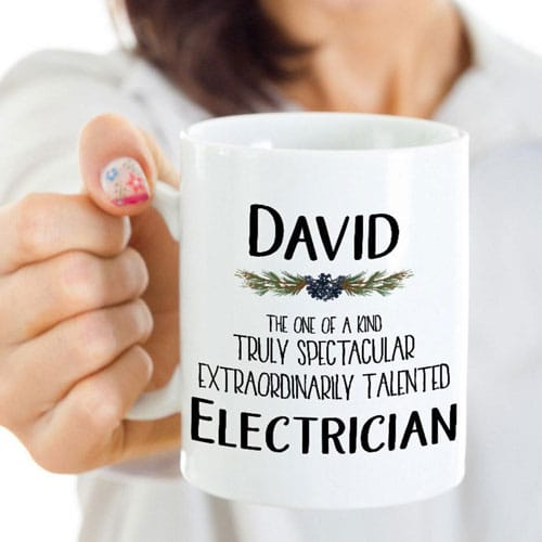 Personalized Electrician Mug
