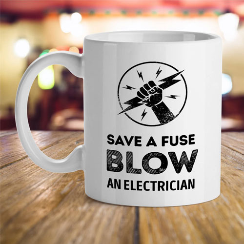 Save A Fuse Electrician Mug