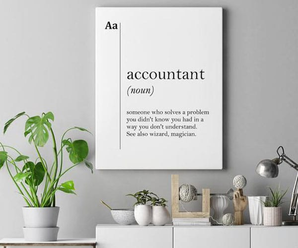 Accountant Canvas Art Definition Poster