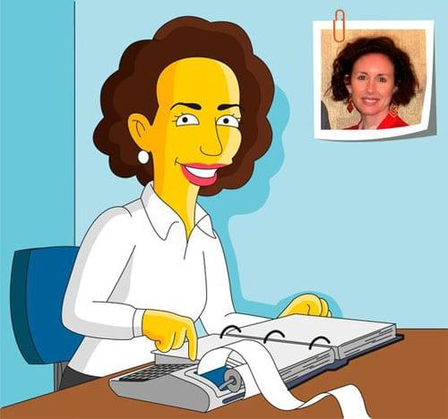 Accountant Gift - Custom Portrait as Yellow Cartoon Character