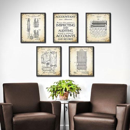 Accountant Patent Prints Set