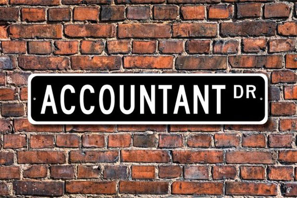 Accountant Street Sign